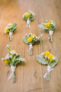craspedia boutonnieres - photo by Nastja Kovacec http://ruffledblog.com/wedding-in-the-prosecco-hills