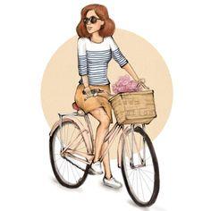 #Bike #fashionillustration by AGizemIllustration #illustration #fashionsketch