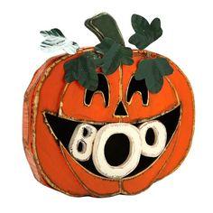 "Wood Boo In Mouth Jack-o'-lantern, 20"" $34.99 #Gordmans #Halloween #HalloweenDecor #Pumpkin #Boo"