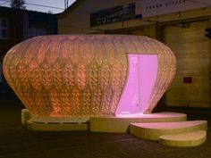 glowing Temporary Building Inspired by Plankton