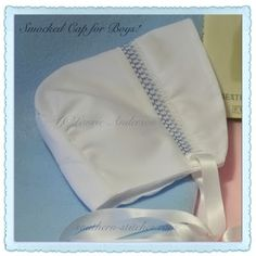 SewNso's Sewing Journal: Sweetly Smocked Bonnets  A pattern for baby boys!