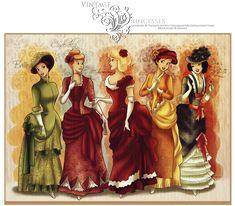 Vintage Princesses by ~selinmarsou