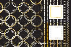 Metallic Frames and Borders Bundle by scrapster on Creative Market