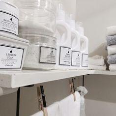 Negaさんの、Bathroom,100均,ダイモテープ,DIY,カインズホーム,自作ラベル,詰め替えボトル,mon・o・tone,セリアアイアンウォールバー,うたまろ石鹸,塩系も憧れについての部屋写真