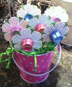 Trinity Designs: Sweet Treat Flowers. Easter or Mother's Day
