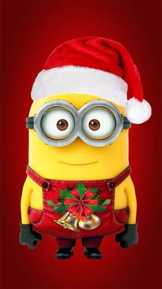 This is a picture of a holiday themed minion from the Disney Movies: Despicable Me 1 & I got it from the app: Zedge. Where you can get free wallpapers an ringtones. I definitely recommend it. Thanks:-) Bye:-)