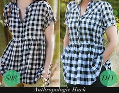 Look and feel great this fall by transforming a plain shirt into a trendy swing top with an empire waistline.