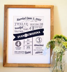 Personalized anniversary 8x10 print love by numbers by laceyfields