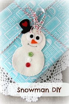 Plushka's craft: Snowman Christmas decoration DIY