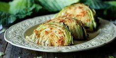 Roasted cabbage wedges are an easy healthy side dish you can serve for a low carb dinner. Simply use fresh green cabbage, garlic, lemon and butter. Enjoy the health benefits of this quick vegetarian recipe that can be roasted in the oven on one tray. Healthy Side Dishes, Vegetable Sides, Vegetable Side Dishes, Side Dish Recipes, Vegetable Recipes, Roasted Cabbage Wedges, Quick Vegetarian Meals, Vegetarian Soup, Vegetarian Breakfast