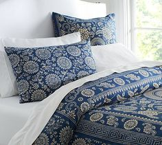 Bedding that a boasts a bandana-inspired look.