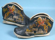 Roy Rogers and Trigger Childs Slippers Cowboy Western Ranch Movie TV Star 1950s   eBay