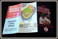 1986 BOSTON RED SOX PRUDENTIAL CENTER GARAGE BASEBALL POCKET SCHEDULE WADE BOGGS #Pocket #Schedule