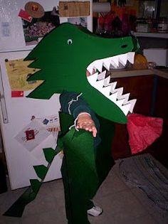 Halloween Costume-Fire Breathing Dragon Costume