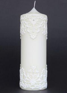 "Hochzeitskerzen & Beleuchtung - Hk "" Ornament"" - ein Designerstück von claudia-slanzi bei DaWanda"