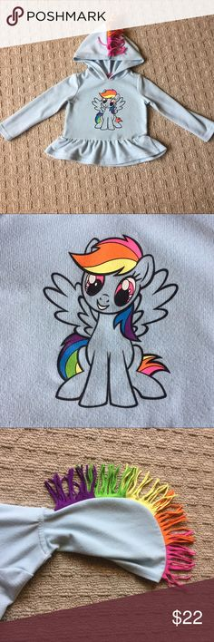 MyLittlePony Sweatshirt My Little Pony light blue sweatshirt with Rainbow Blitz graphic. Shirts & Tops Sweatshirts & Hoodies