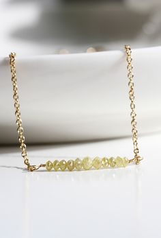 Obsessed with yellow diamonds! This gold filled necklace is only £119 with free worldwide delivery. Neeeeed it.