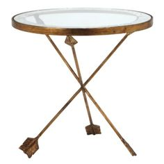 This Arthur Glass Table from #ZGallerie is a whimsical little piece that could work in a variety of spaces.