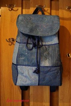 Costure mochila nova de velhos jeans - Mestrado - Feira artesanal, feito à mão