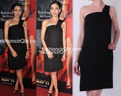 In Nicole Farhi : Karisma Kapoor : Lame or Fame?One to always WOW us with her appearances, Karisma gave us a rather Blah look at the promo launch of her comeback film 'Dangerous Ishq'.    The actress opted for a simple one shoulder black dress by Nicole Farhi. Out of millions of LBDs out there, I'm surprised that Lolo opted for this dress. While I can overlook the choice of the dress, the pairing of black peep-toes made the whole look seem more boring and predictable.