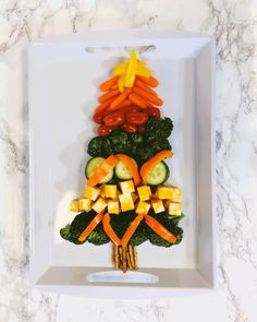 Veggie Christmas, Christmas Tree, Easy Recipes, Easy Meals, Healthy Recipes, Veggie Tray, Health Education, Spice Things Up, Branches