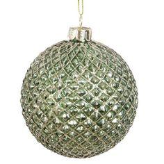 Grüne Glitzer-Glaskugel GREEN