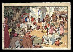 hiroshi yoshida images | Hiroshi Yoshida Woodblock - India Series (item #93274)