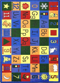 Children Will Find Numbers, Upper Case And Lower Case Alphabet, Seasons,  Shapes,