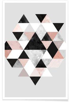 Graphic 202 als Premium Poster door Mareike Böhmer | JUNIQE