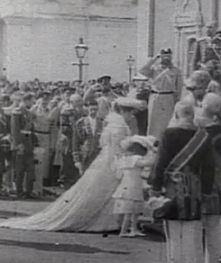 """teatimeatwinterpalace: """" The Imperial family in Moscow on Palm Sunday, April 2, 1903. """" Nicholas II and Empress Alexandra Feodorovna, wearing a beautiful long train, with their eldest daughter Grand..."""