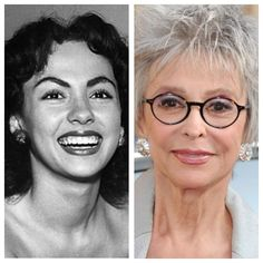 Actress Rita Moreno, star of movies, television and broadway, was born on Dec. Celebrities Before And After, Celebrities Then And Now, Young Celebrities, Vintage Movie Stars, Vintage Movies, Real People, Famous People, Rita Moreno, Stars Then And Now