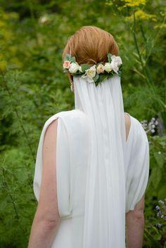 Botanical Garden Style Brooklyn Wedding from Amaranth Photography - wedding hairstyle
