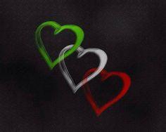 Italian colored hearts
