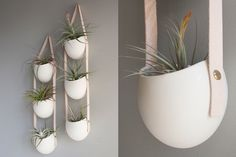 I am totally in love with everything Light + Ladder. This tieredceramic  hanging planter is so perfect with it's nude leather strap and gold  fasteners! And everything else on their site, including thesefabulous wall  hooks, is amazing and so well designed. Farrah Sit hasa refined eye and  selects the best of local (to Brooklyn, New York) artisan's and her own  work to populate the shop. I highly recommend a visit.