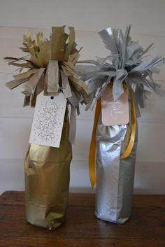 Martha Stewart does it again... champagne bottle wrap <3