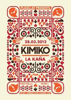 poster design for the croatian band Kimiko by http://ivan-bliznak.deviantart.com/