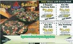 Subway Coupons Promo Coupons will expired on MAY 2020 ! Subway Information Subway specials help you eat healthy and fresh meals by. Kfc Coupons, Home Depot Coupons, Online Coupons, Wendys Coupons, Tide Coupons, Mcdonalds Coupons, Walgreens Coupons, Pizza Coupons, Local Coupons