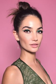 Elevate your winged liner by adding a pop of color with rich gels in different hues. Celebs like Lily Aldridge and Shay Mitchell are our muses for this makeup look.