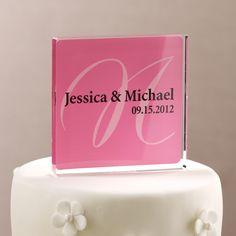 e4d2da0ddd Personalized Wedding Cake Topper