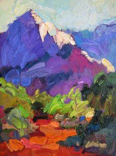 Larisa Aukon, Trailhead by Larisa Aukon Oil ~ 12 x 9