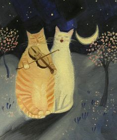 Moonlight Sonata Art Print by Mary Stubberfield - WorldGallery.co.uk