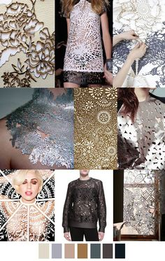 Laser cut organic patterns in metallics