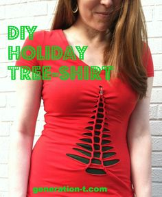 No Sew Holiday Tree Shirt