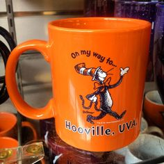 Not a UVA fan but this is a cleaver mug! sports mugs Dream School, School Fun, University Of Virginia Basketball, Duke Basketball, Cute Mugs, Charlottesville, Grad Parties, San Francisco Giants, Blue Orange