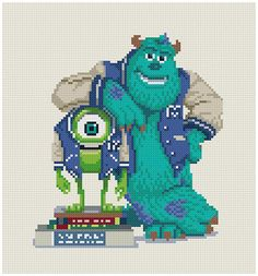 Monsters University  pattern by  PDFcrossstitch on Etsy