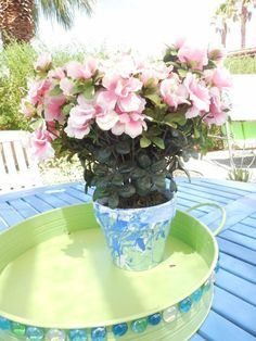s don t throw away your old nail polish before you see these 14 ideas, Jazz up your boring brown terra cotta pot