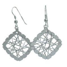 Dreamcatcher Earrings in Sterling Silver https://www.goldinart.com/shop/earring/sterling-silver-earrings/dreamcatcher-earrings-sterling-silver #Earrings, #SterlingSilver