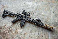 Weapons Guns, Guns And Ammo, Firearms, Shotguns, Ar 15 Builds, Cool Guns, Awesome Guns, Battle Rifle, Military Guns