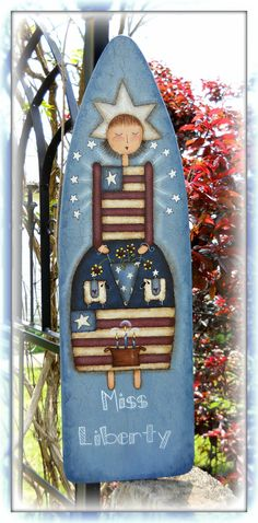 E PATTERN Miss Liberty New Americana Design by T. French and Painted by me, Sharon B. $5.00