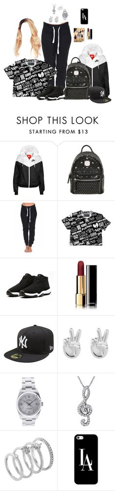 """Untitled #91"" by love-fashion23 ❤ liked on Polyvore featuring NIKE, MCM, Chanel, Rock 'N Rose, Rolex, Vince Camuto and Casetify"